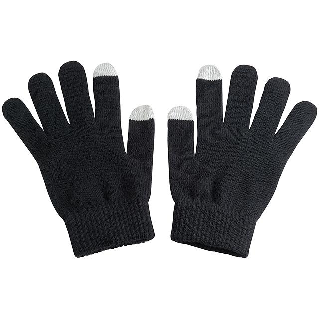 Akrylové rukavice - černá