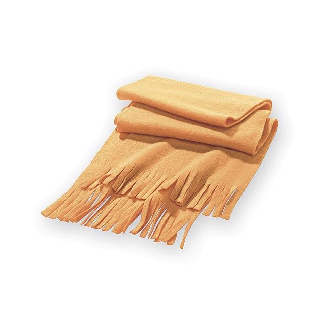 UMEA fleecová šála, 200 g/m2, Oranžová - oranžová