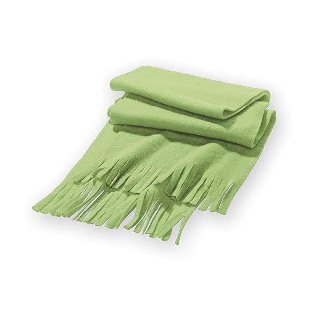 UMEA fleecová šála, 200 g/m2, Světle zelená - zelená