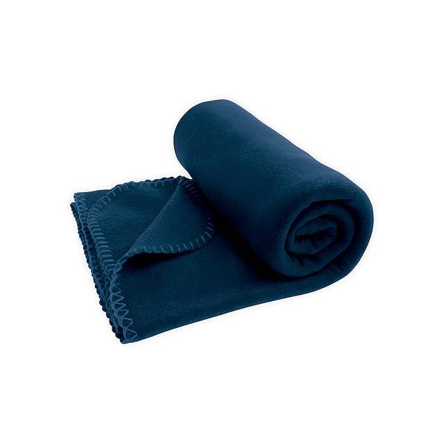 SULENA cestovní fleecová deka, 180 g/m2, Modrá - modrá
