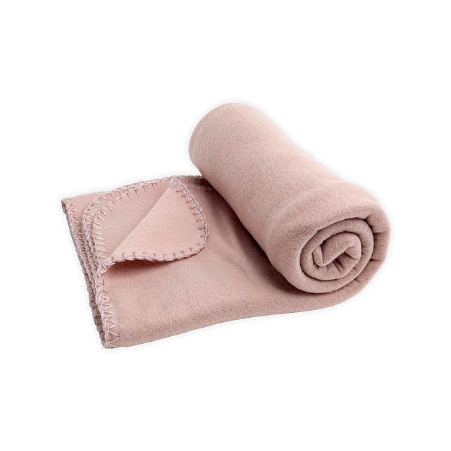 SULENA cestovní fleecová deka, 180 g/m2, Béžová - béžová
