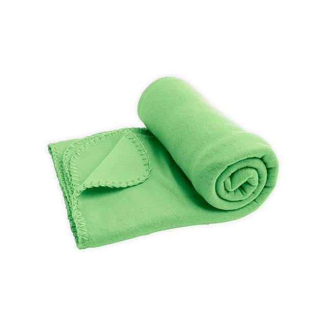 SULENA cestovní fleecová deka, 180 g/m2, Světle zelená - zelená