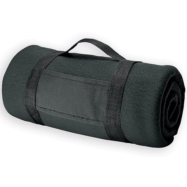 FIT II cestovní fleecová deka, 180 g/m2, Černá - černá