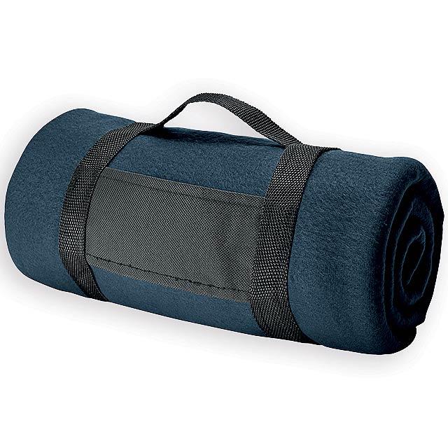 FIT II cestovní fleecová deka, 180 g/m2, Modrá - modrá