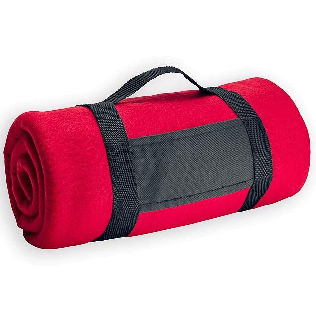FIT II cestovní fleecová deka, 180 g/m2, Červená - červená