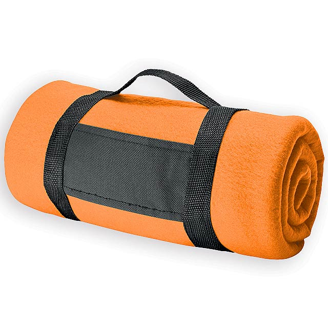 FIT II cestovní fleecová deka, 180 g/m2, Oranžová - oranžová