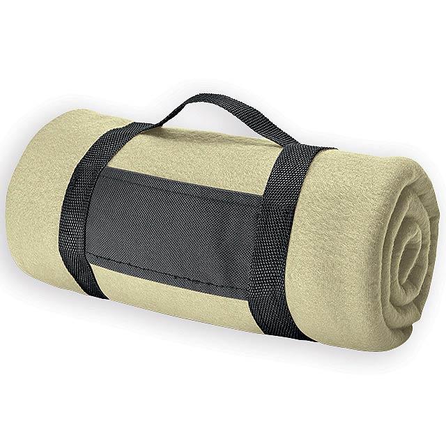 FIT II cestovní fleecová deka, 180 g/m2, Béžová - hnědá