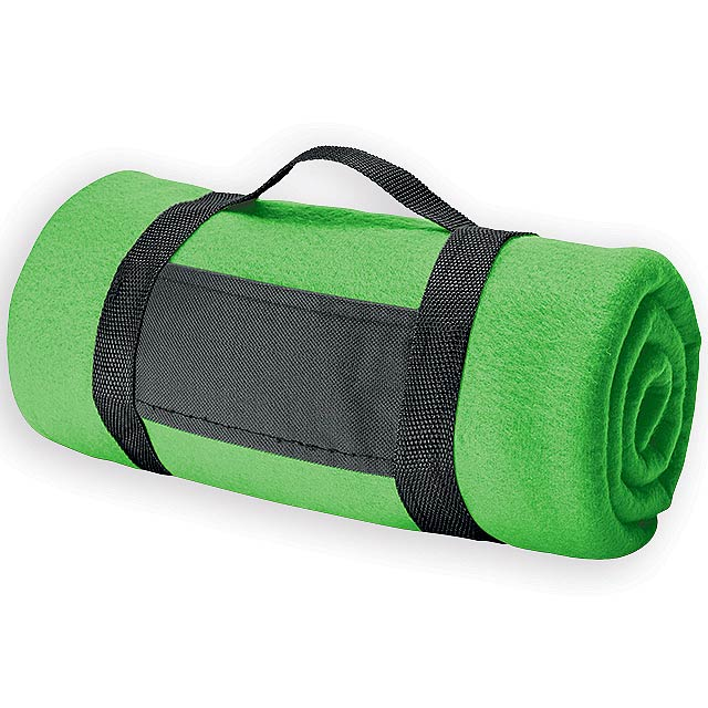 FIT II cestovní fleecová deka, 180 g/m2, Světle zelená - zelená