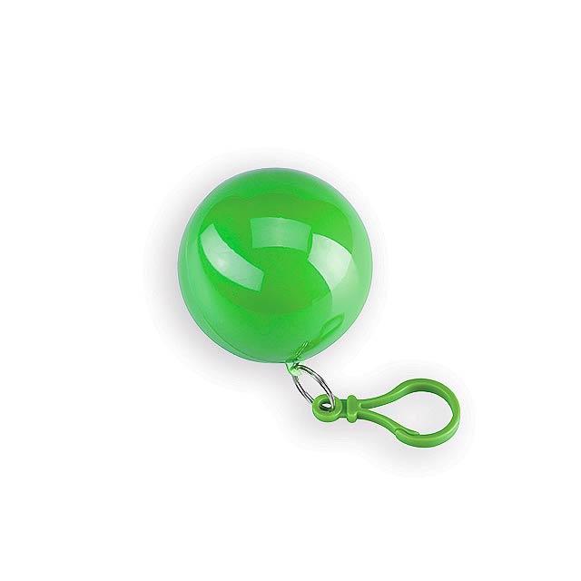 SURI II igelitová pláštěnka v plastovém pouzdře, Světle zelená - zelená