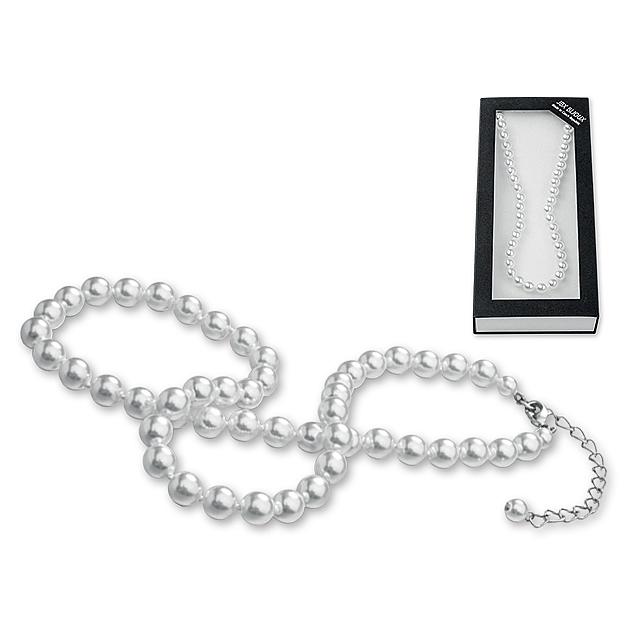 NECKLACE - Skleněný perlový náhrdelník jablonecké bižuterie v dárkové  krabičce. f6e8fb1847