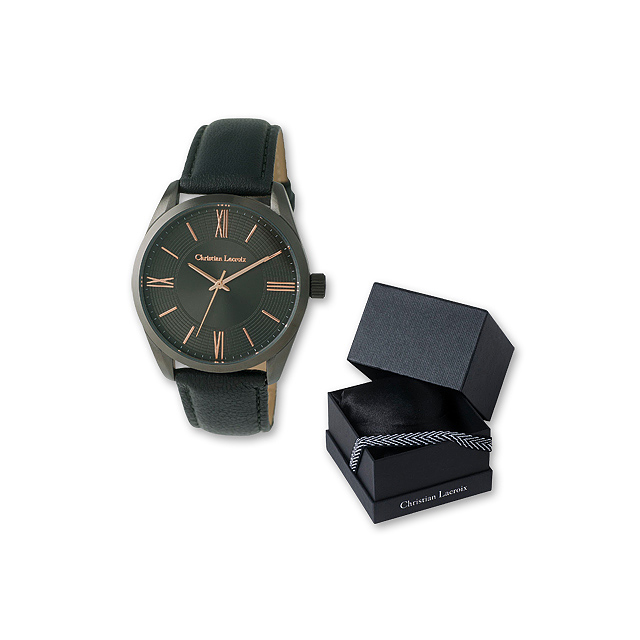 CHRISTIAN - pánské náramkové hodinky Christian Lacroix - tmavě šedá ... 3047e0b23ff