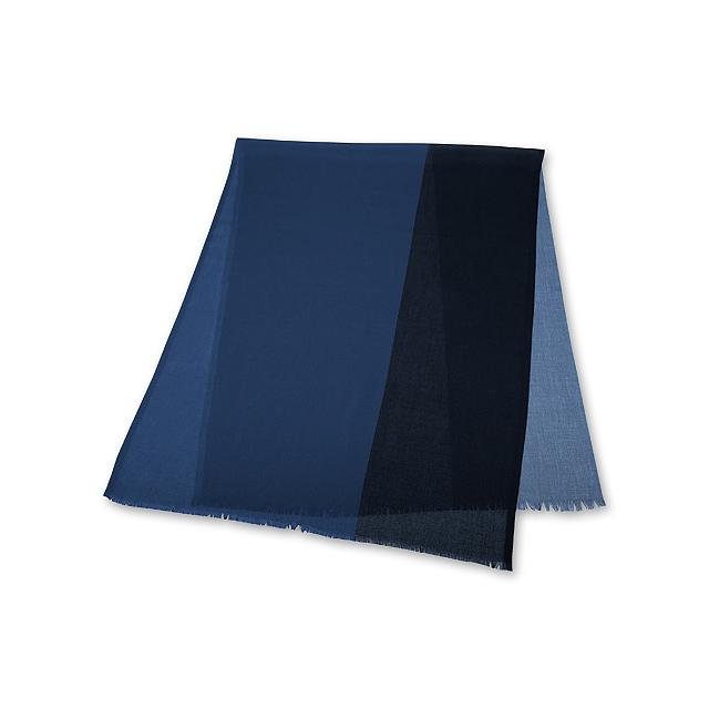 DWIGHT - pánská šála SANTINI - modrá e6023e3899