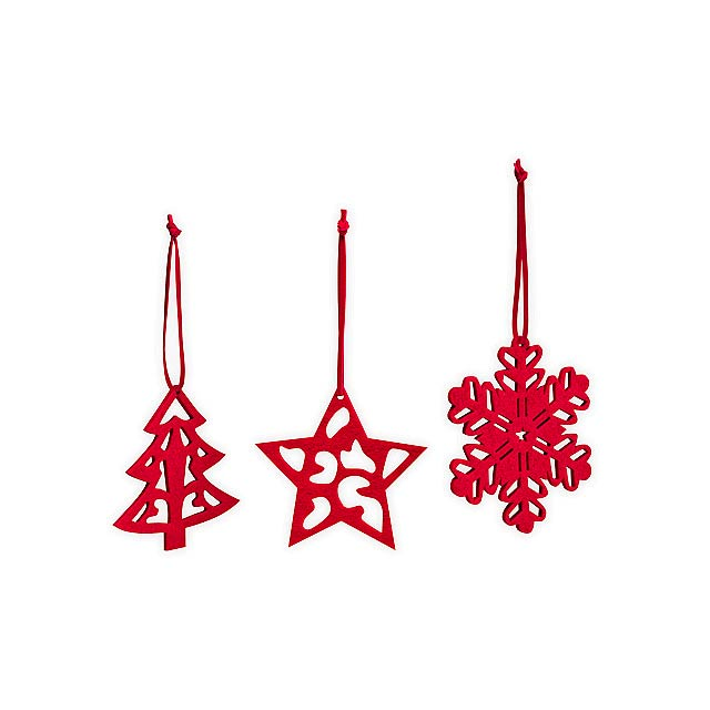 TRIO DECO II - Set of 3 Christmas decorations - multicolor