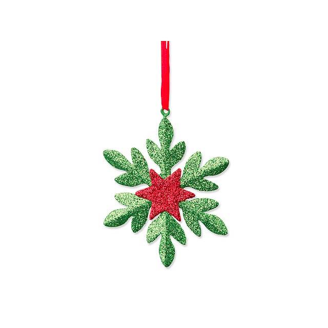 SNOWFLAKE - Metal Christmas decoration. - green