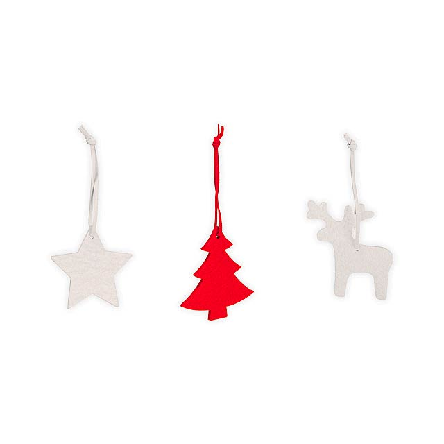 TRIO DECO I - Set of 3 Christmas decorations - multicolor