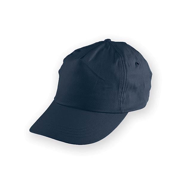 TIWI polyesterová baseballová čepice, 5 panelů, Modrá - modrá