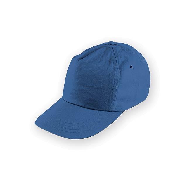 TIWI polyesterová baseballová čepice, 5 panelů, Královská modrá - modrá
