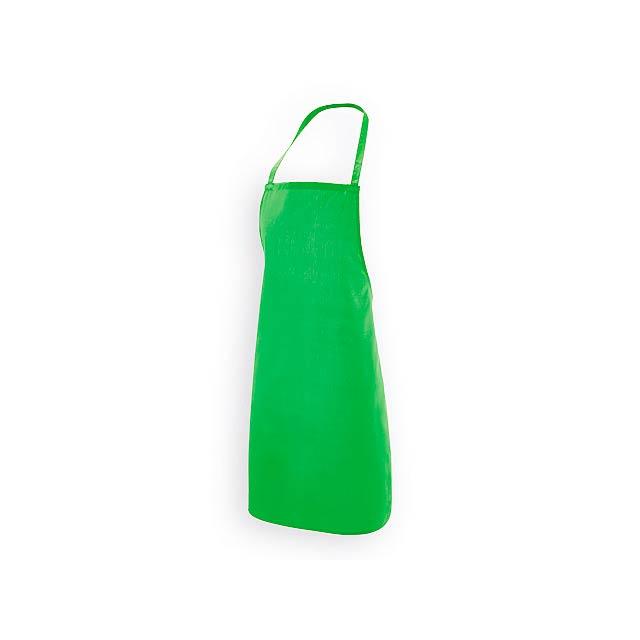 CURRY zástěra z bavlny a polyesteru, 180 g/m2, Světle zelená - zelená
