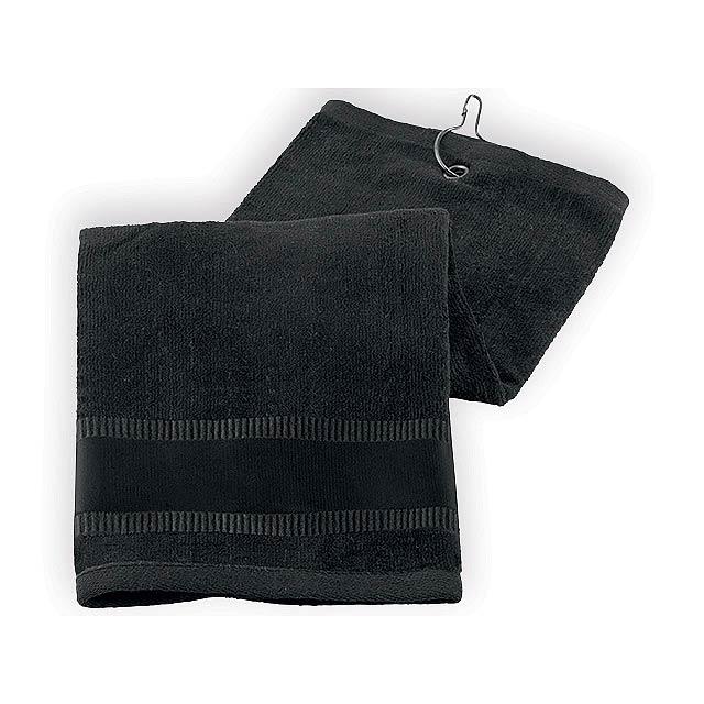GOLF TOWEL II golfový ručník, Černá - černá
