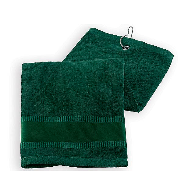 GOLF TOWEL II golfový ručník, Zelená - zelená