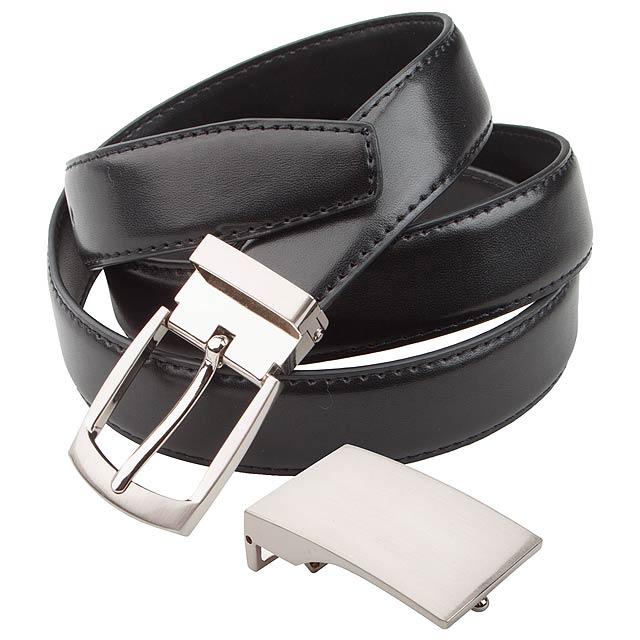 Twice kožený pásek - černá
