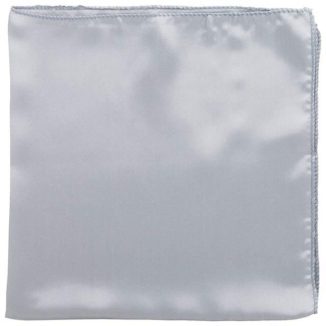 Jednobarevný dámský šátek. Materiál 100% polyester. - stříbrná - foto