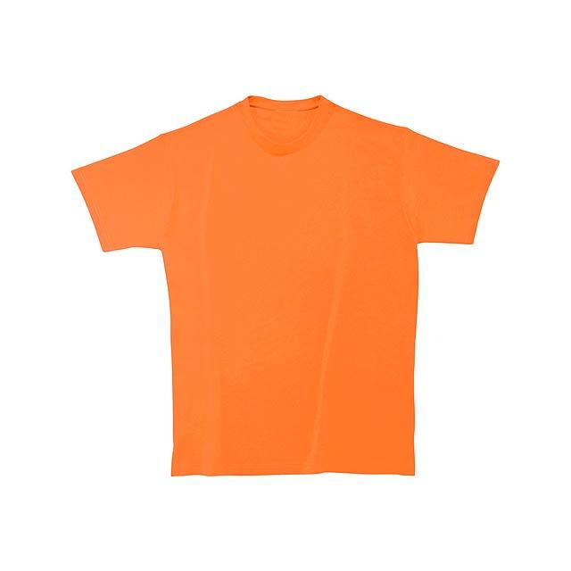 Tričko s kulatým výstřihem ze 100% těžké bavlny, 180 g/m² (bílé 170 g/m²). - oranžová - foto