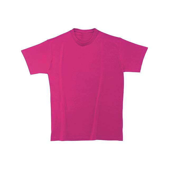 Tričko s kulatým výstřihem ze 100% těžké bavlny, 180 g/m² (bílé 170 g/m²). - růžová - foto