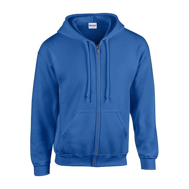 HB Zip Hooded Mikina - modrá