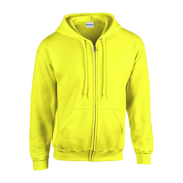 HB Zip Hooded Mikina - žlutá