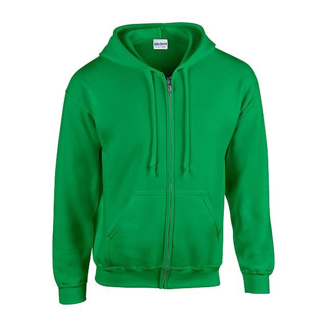 HB Zip Hooded Mikina - zelená