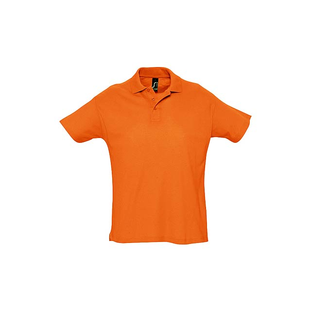 Polokošile pique ze 100% počesané bavlny se 3 knoflíky, 170 g/m². - oranžová - foto