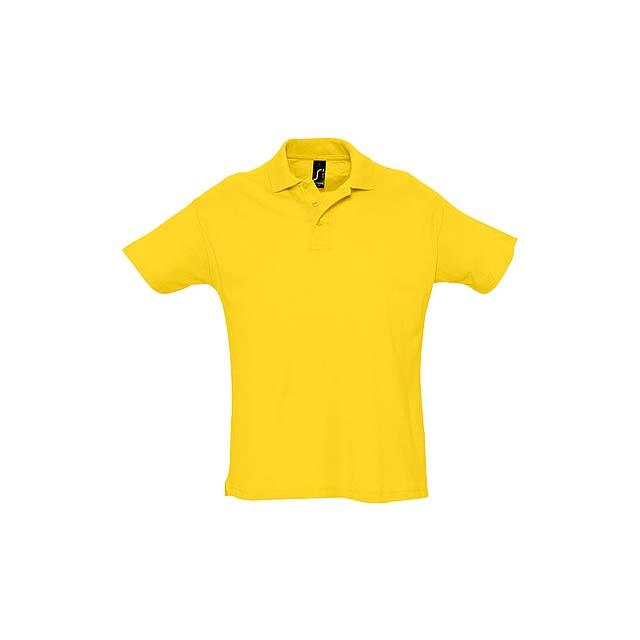 Summer II polokošile pique - žlutá