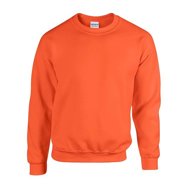 Mikina s kulatým výstřihem, 50% bavlna/50% polyester, 271 g/m² (bílá 257 g/m²). - oranžová - foto