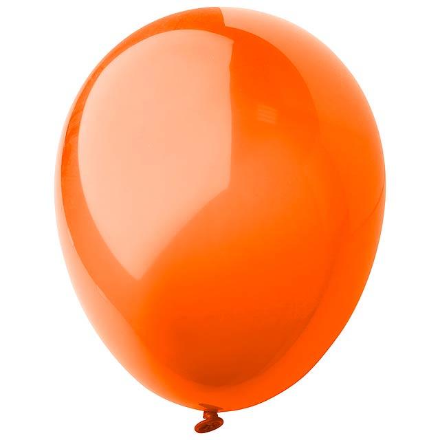 CreaBalloon balonky v lesklých barvách - oranžová