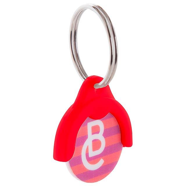 Token přívěšek na klíče se žetonem - červená