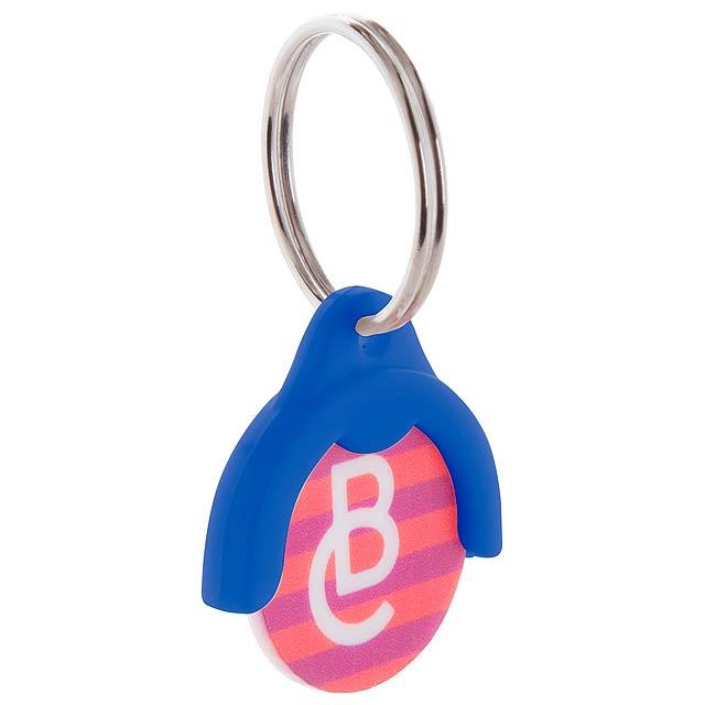 Token přívěšek na klíče se žetonem - modrá