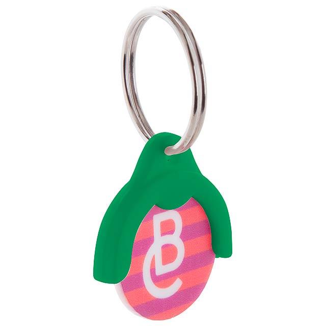 Token přívěšek na klíče se žetonem - zelená