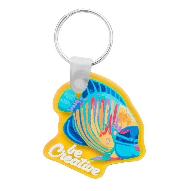 CreaFob přívěšek na klíče - žlutá