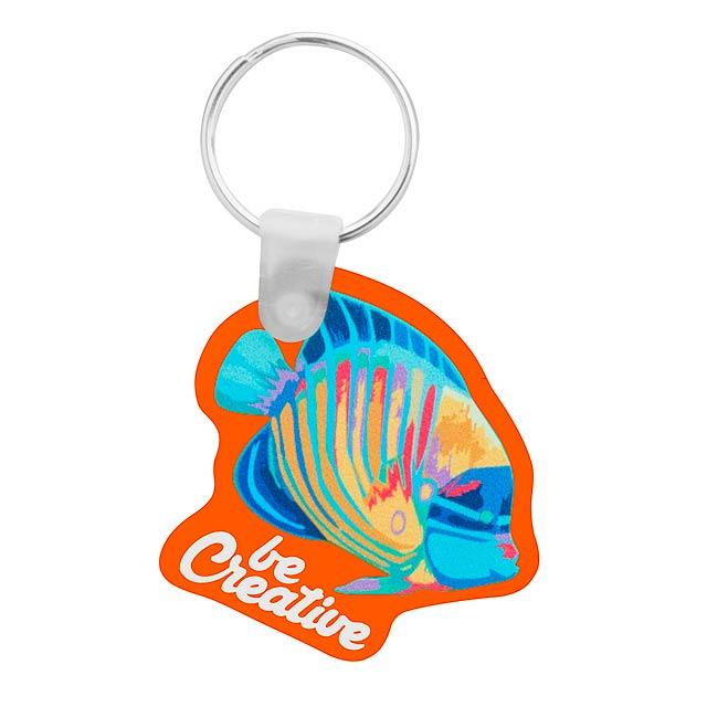 CreaFob přívěšek na klíče - oranžová