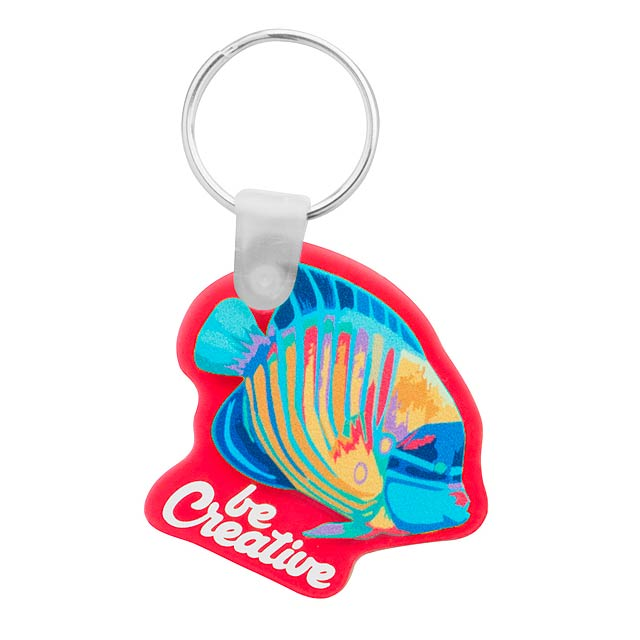 CreaFob přívěšek na klíče - červená
