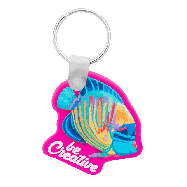 CreaFob přívěšek na klíče - fuchsiová (tm. růžová)