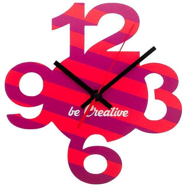 BeTime 12 nástěnné hodiny - multicolor