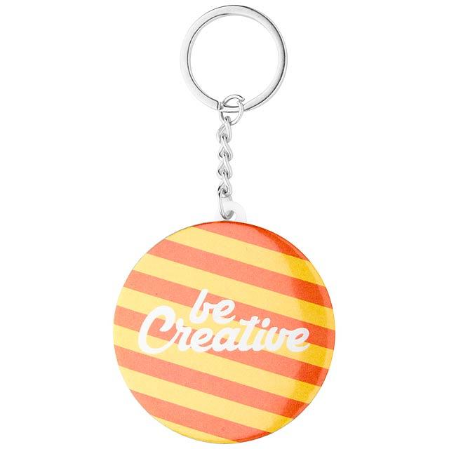 KeyBadge Mini přívěšek na klíče s plackou - multicolor