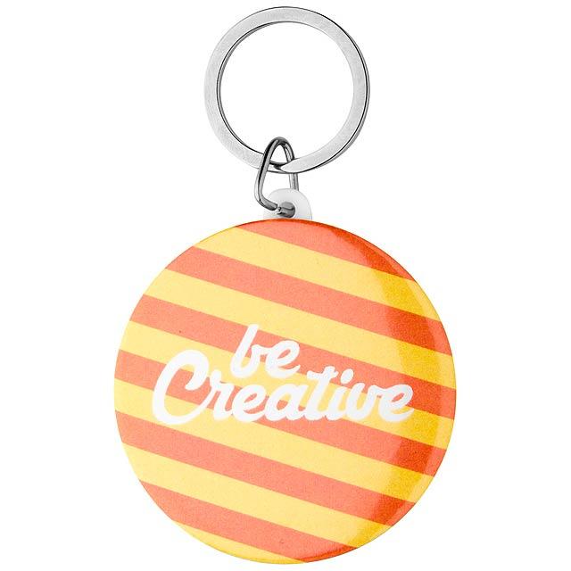 KeyBadge Maxi přívěšek na klíče s plackou - multicolor