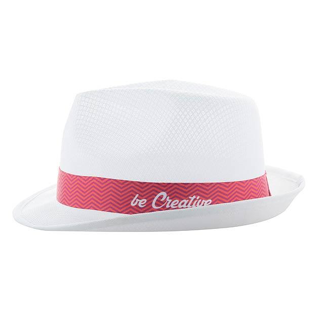 Subrero XL  stuha se sublimačním potiskem pro klobouky - bílá