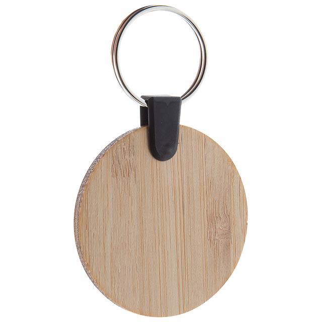 Bambry kulatý přívěšek na klíče z bambusu - dřevo