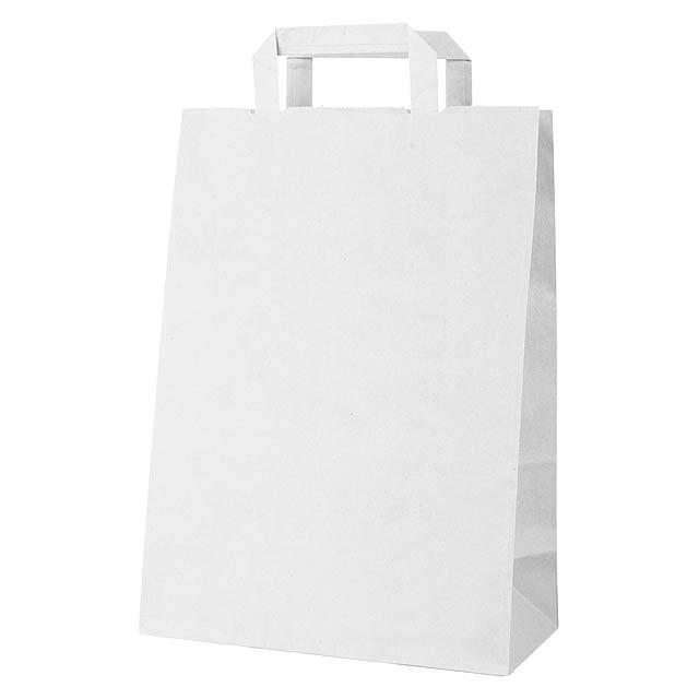 Market papírová taška - bílá