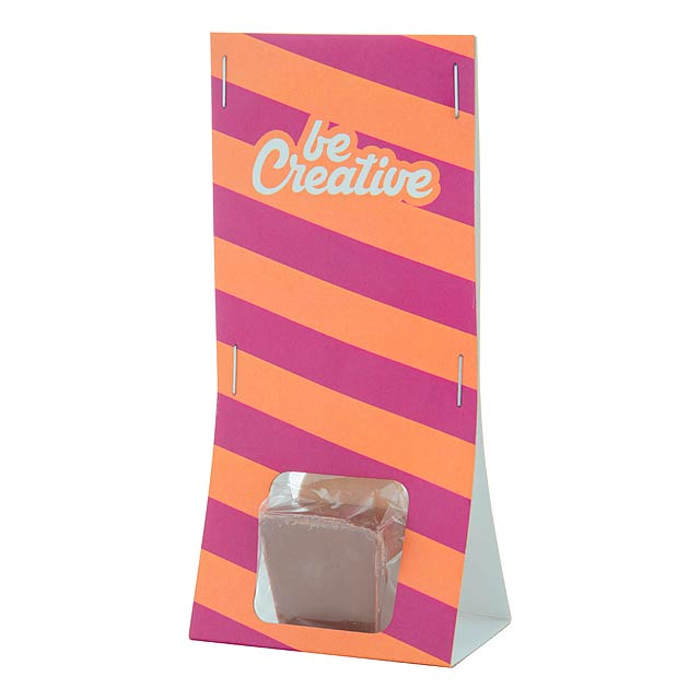 ChocoSpoon horká, mléčná čokoláda na dřevěné lžičce - multicolor