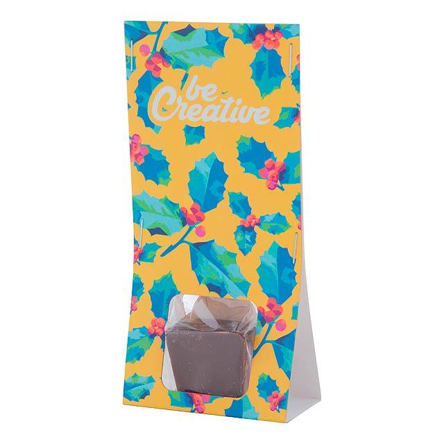 ChocoSpoon horká, hořká čokoláda na dřevěné lžičce - multicolor